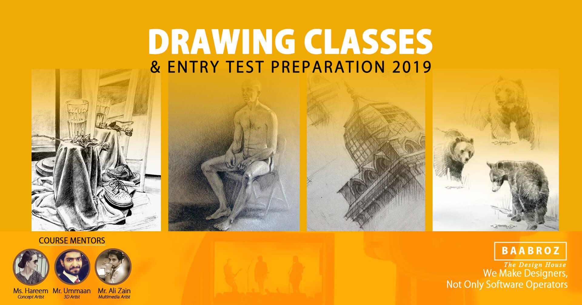 Sketching Drawing Classes In Lahore Baabroz Art School