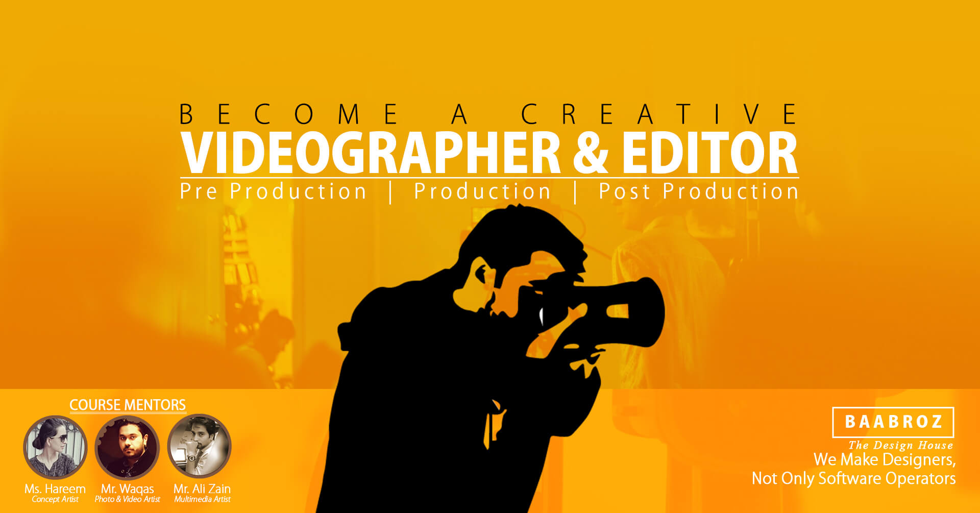 video editing course in Lahore